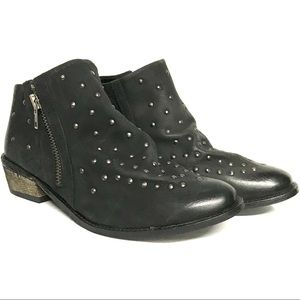 Ecote quirky leather studded ankle boot